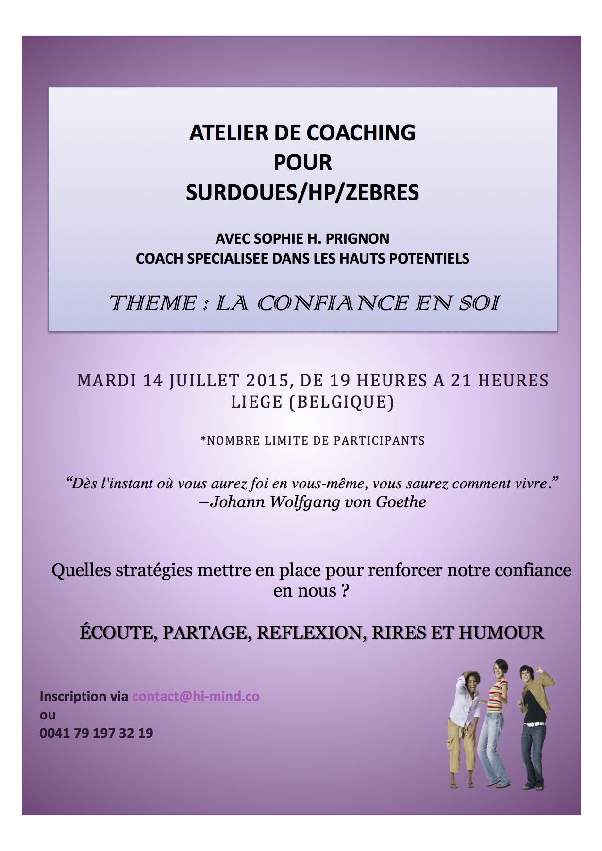 Atelier de coaching Lie ge