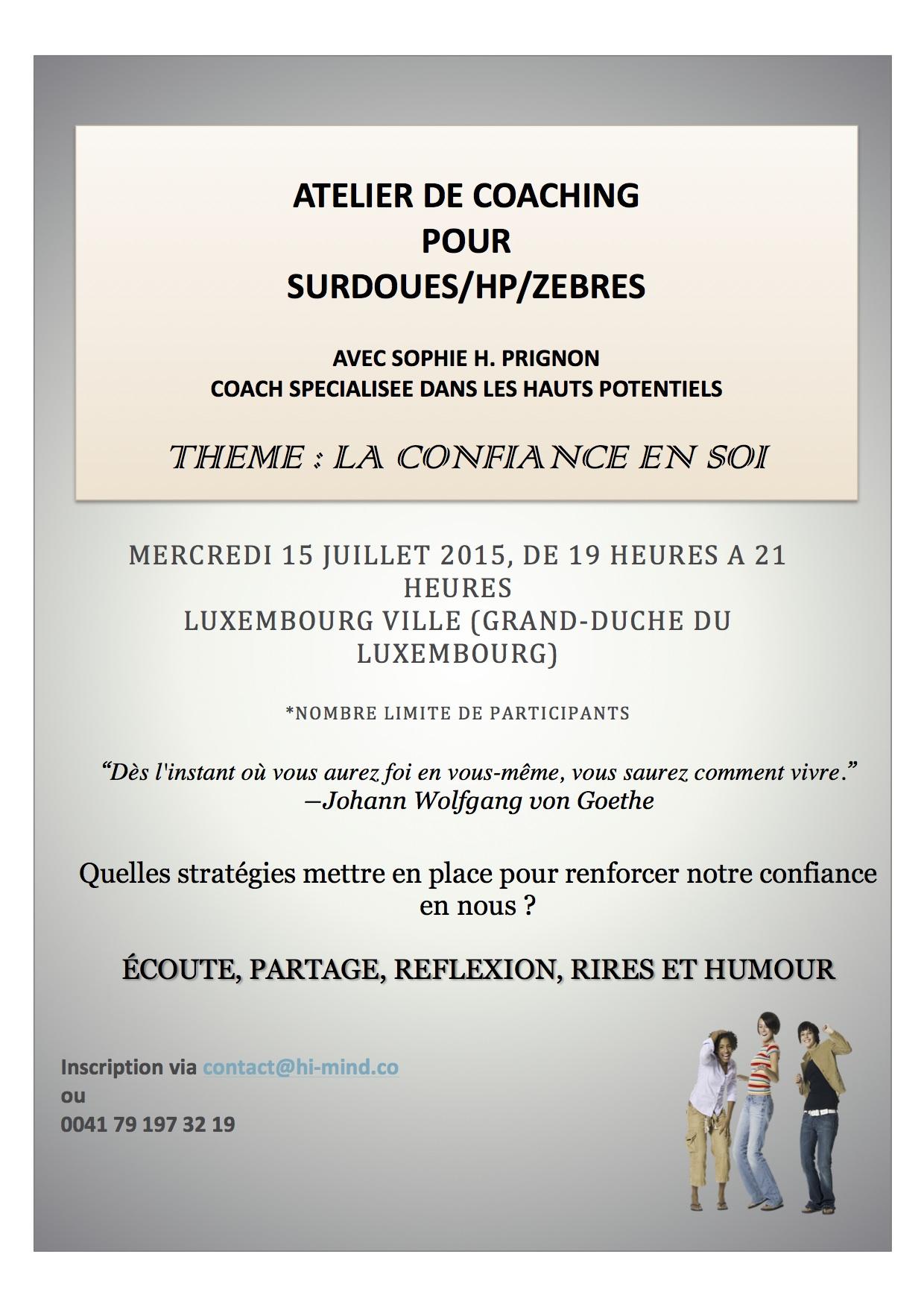 Atelier de coaching Luxembourg